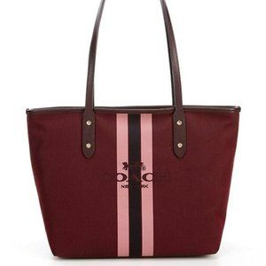 COACH NWOT Horse & Carriage Jacquard City Tote